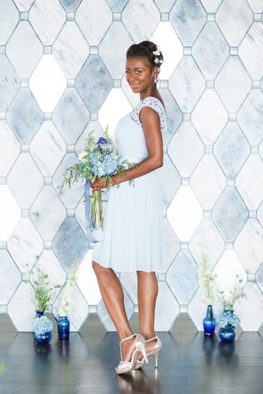 Modern Romantic Pale Blue Wedding Ideas via TheELD.com