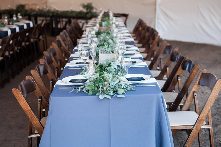 A Rustic Organic Blue & Green California Wedding via TheELD.com