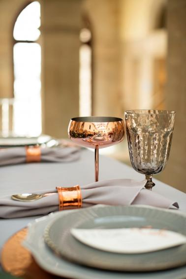 Modern Elegant Grey & Copper Wedding Ideas via TheELD.com