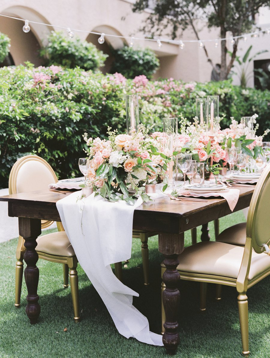 Romantic Peach and Coral Wedding Ideas via TheELD.com