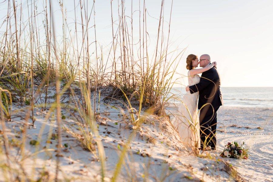 A Burgundy & Navy Florida Beach Wedding via TheELD.com