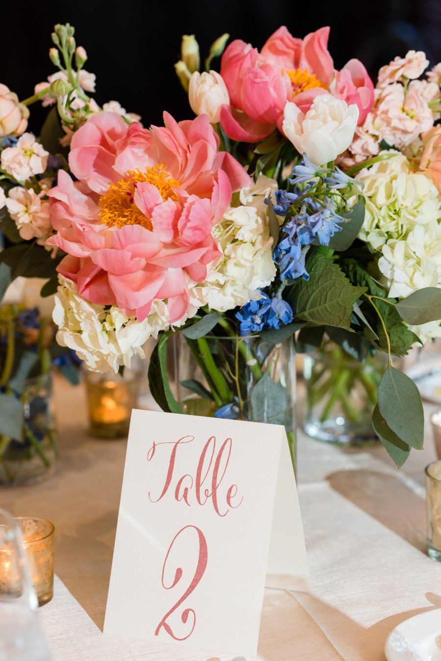 A Pink & Blue Elegant Miami Destination Wedding via TheELD.com