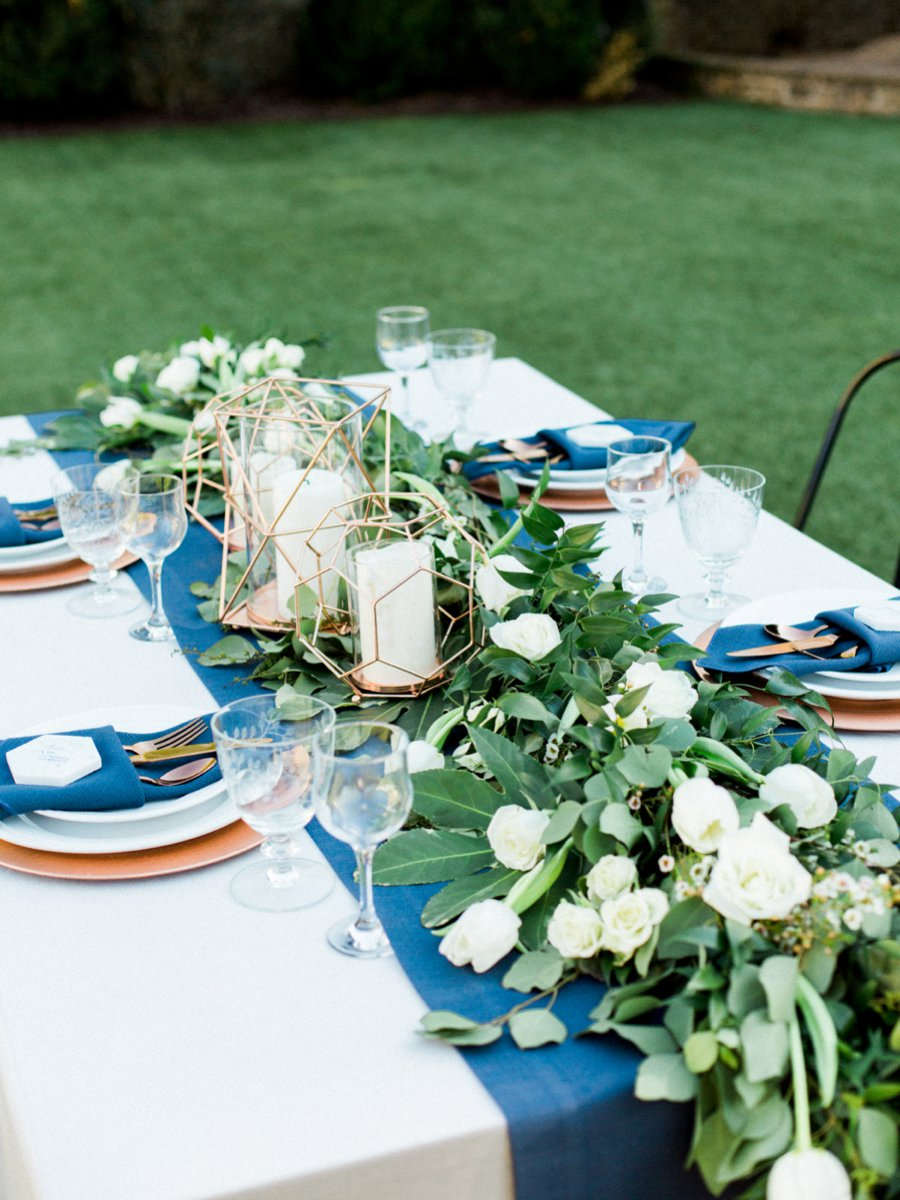 Navy Copper Amp Marble Modern Wedding Ideas Every Last