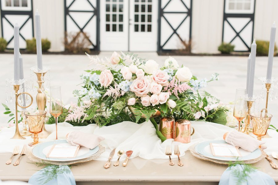 Pink, Blue, & White Rustic Elegant Wedding Ideas via TheELD.com