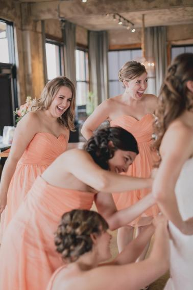 An Eclectic Coral & White Rustic Texas Wedding via TheELD.com