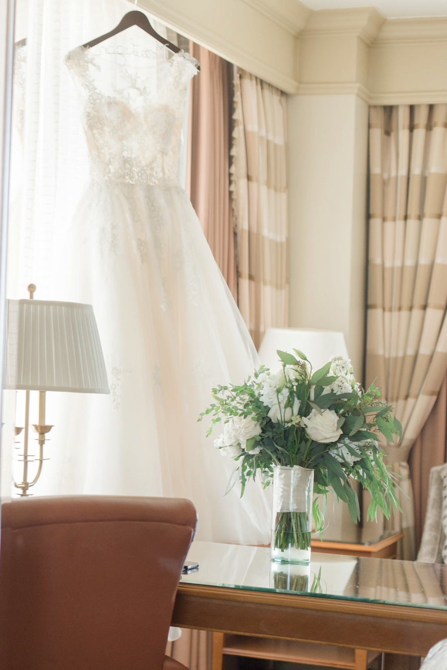 Elegant Green, Grey, & White Indiana Wedding via TheELD.com