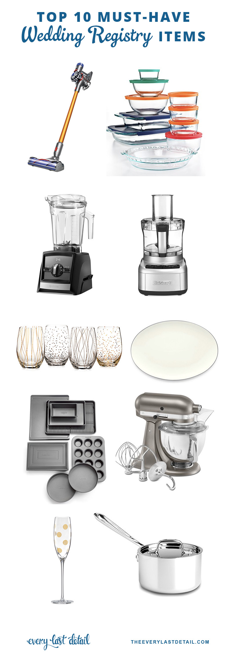 Top 10 must have wedding registry items every last detail for Best items to register for wedding