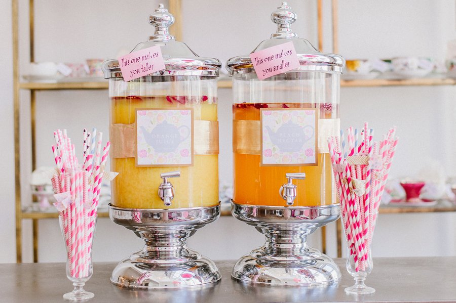 a colorful alice in wonderland inspired chicago tea party bridal shower via theeldcom