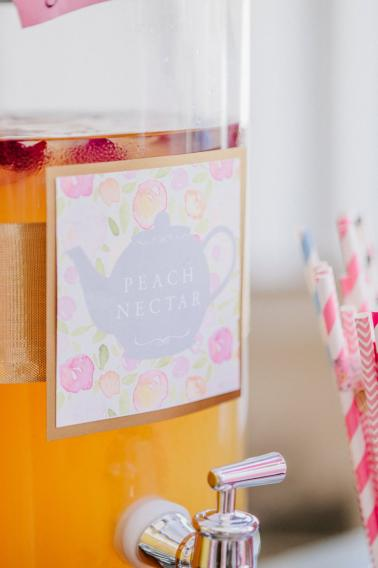 A Colorful Alice in Wonderland Inspired Chicago Tea Party Bridal Shower via TheELD.com