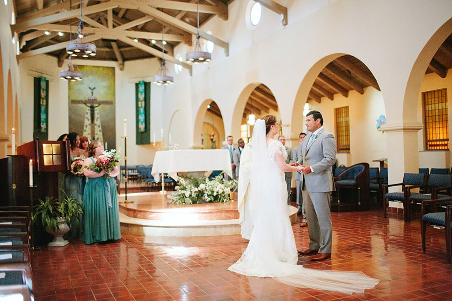 A Blue & Pink Fiesta Inspired California Wedding via TheELD.com
