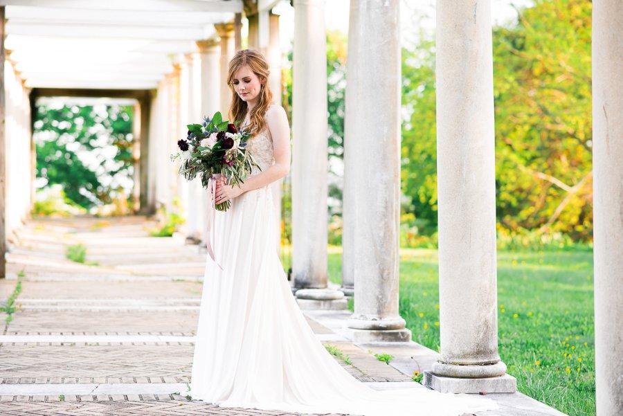 Elegant Navy & Plum Bohemian Wedding Ideas via TheELD.com