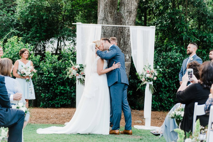 A Timeless Romantic Pink & White North Carolina Wedding via TheELD.com