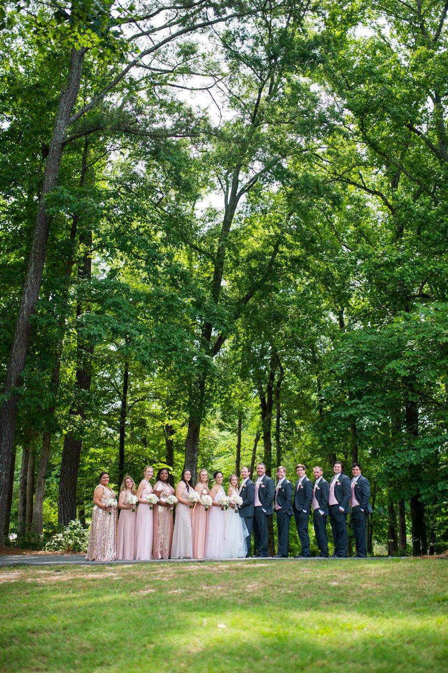 A Pink and Gold Rustic Georgia Farm Wedding via TheELD.com