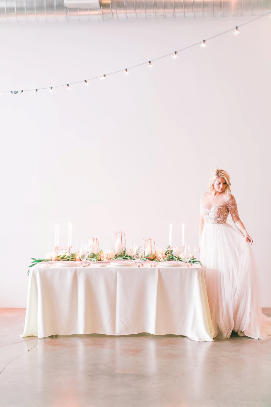 Copper, Blush & Green Modern Romantic Wedding Ideas via TheELD.com