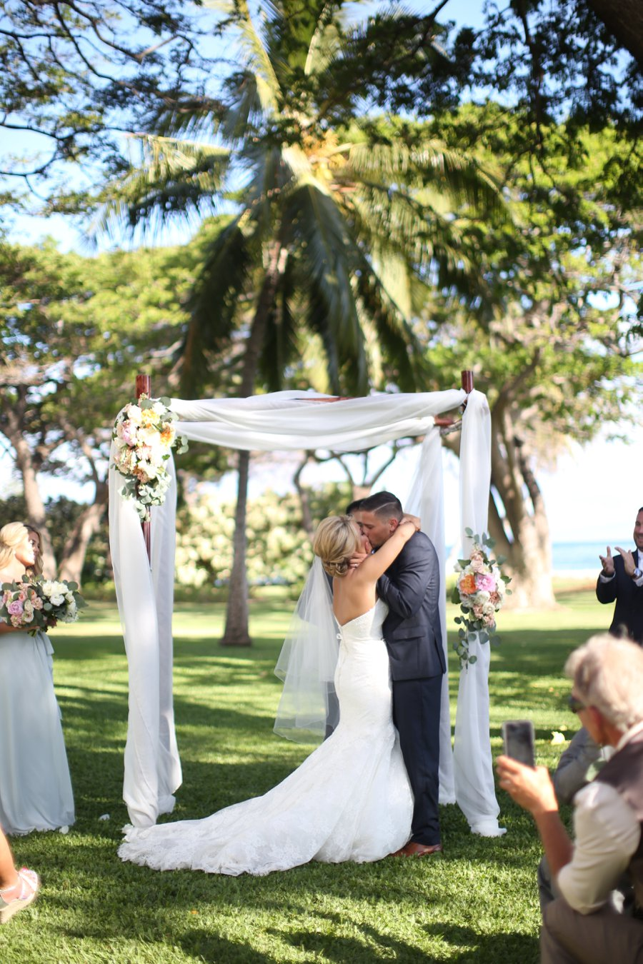A Rustic Blush & White Intimate Maui Destination Wedding via TheELD.com