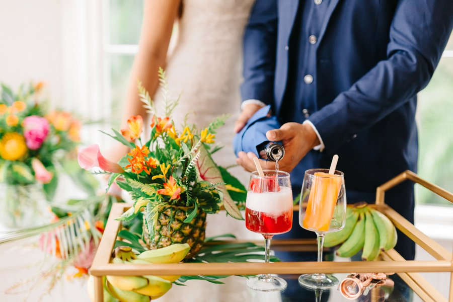 Colorful & Elegant Tropical Wedding Ideas via TheELD.com