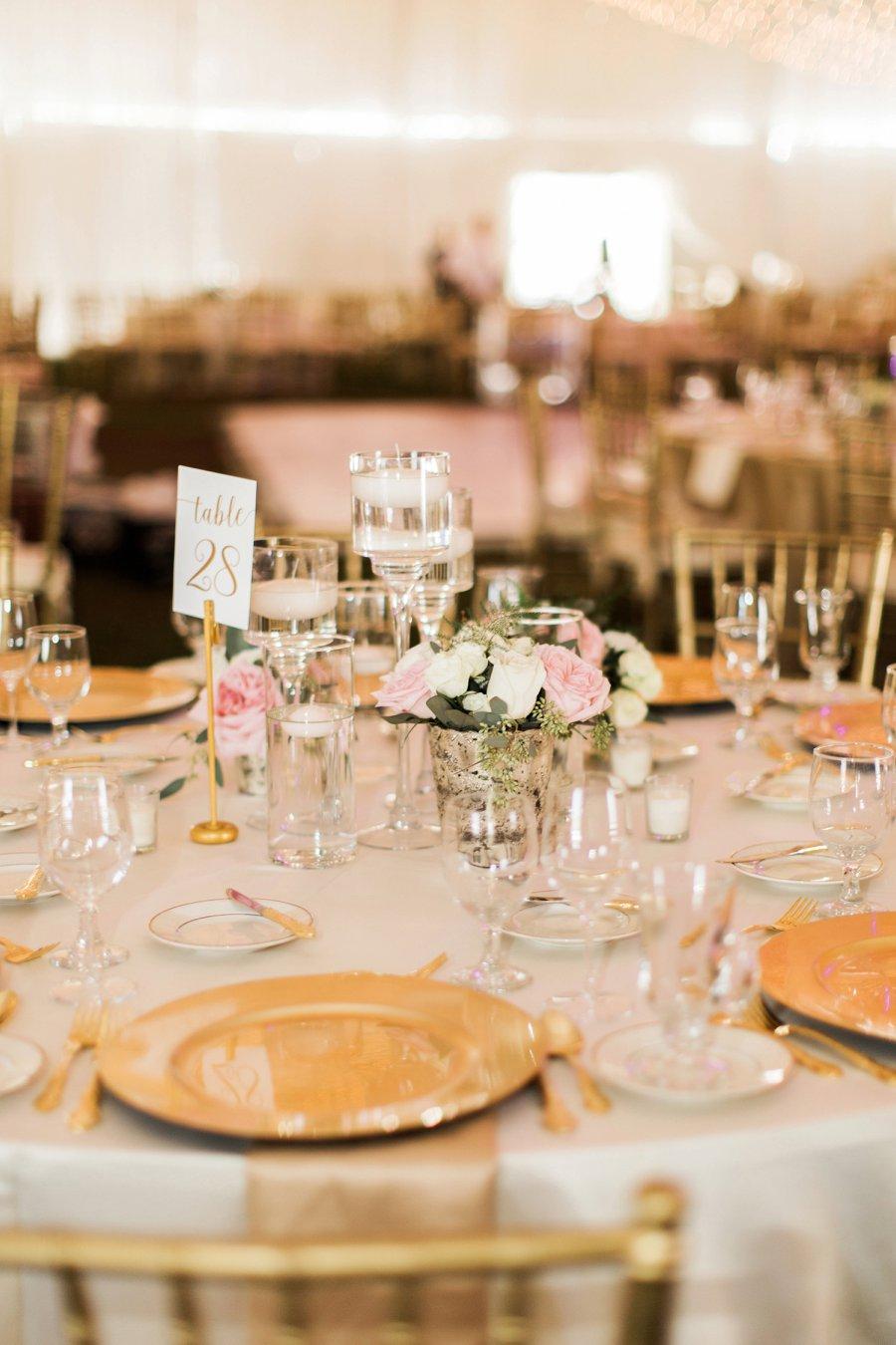 An Elegant Blush & Gold Florida Wedding via TheELD.com