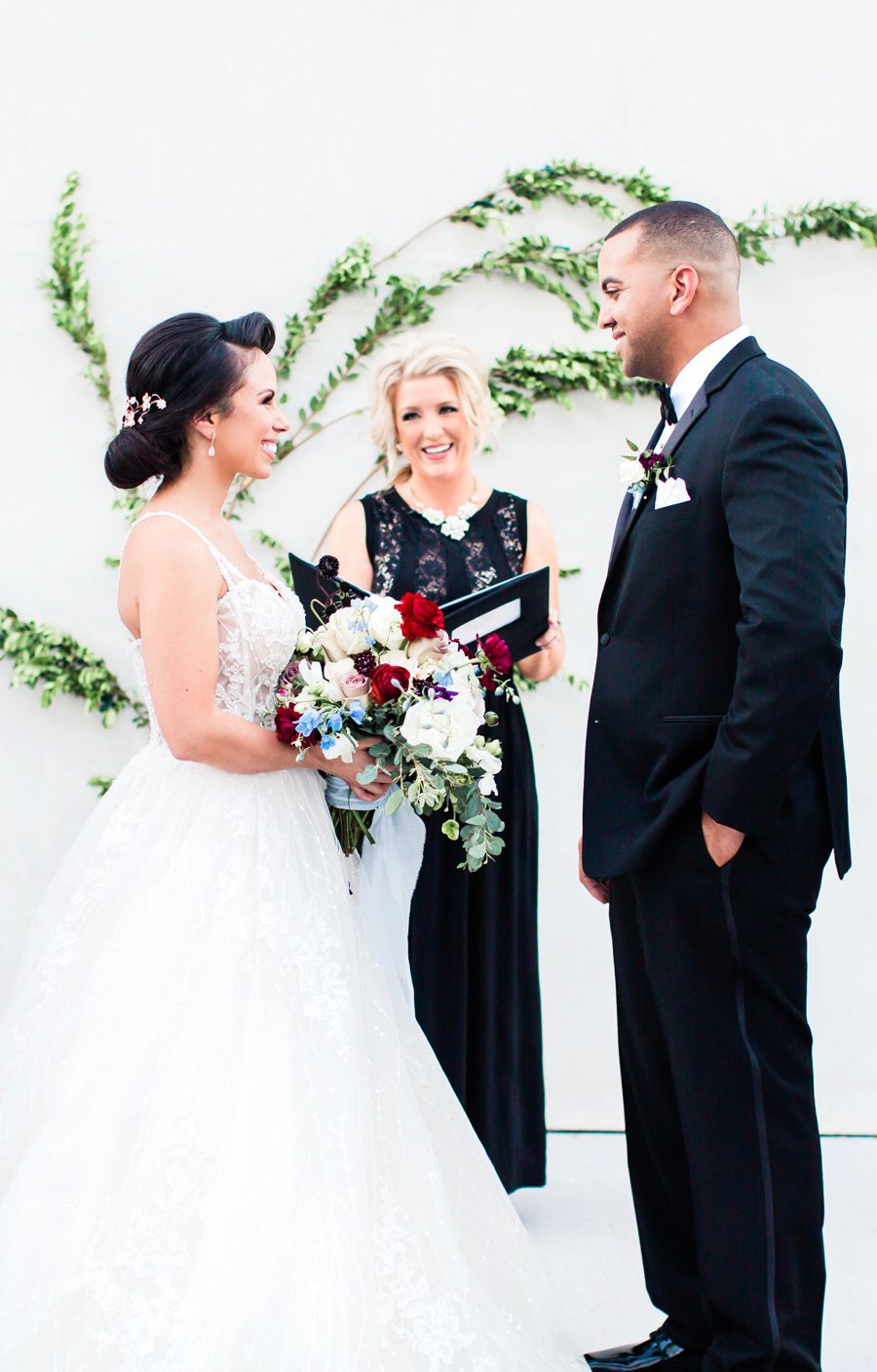Blue, Black, & White Modern Elegant Wedding Ideas via TheELD.com