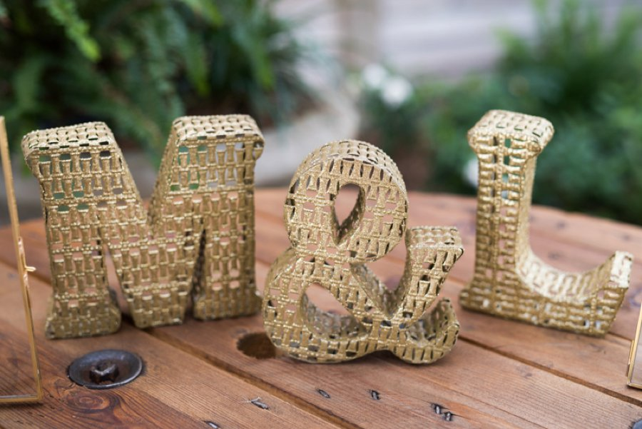 A Gold Rustic Glam Florida Wedding via TheELD.com
