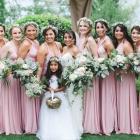 pink convertible bridesmaid dresses