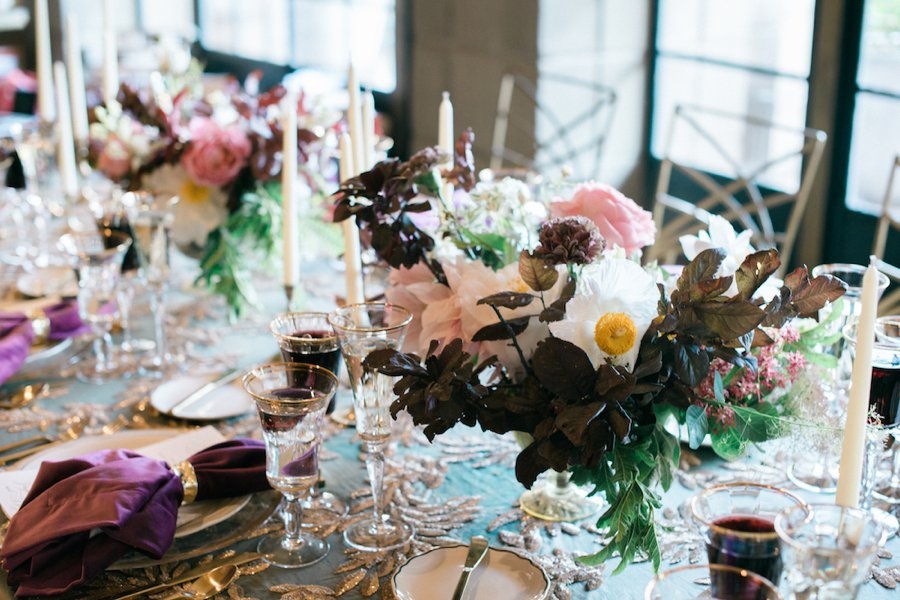 Elegant Emerald & Purple Black Tie Wedding Ideas | Every Last Detail