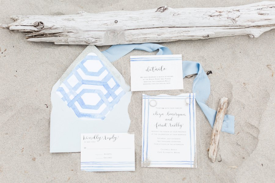 Soft Blue Coastal Maine Wedding Ideas via TheELD.com