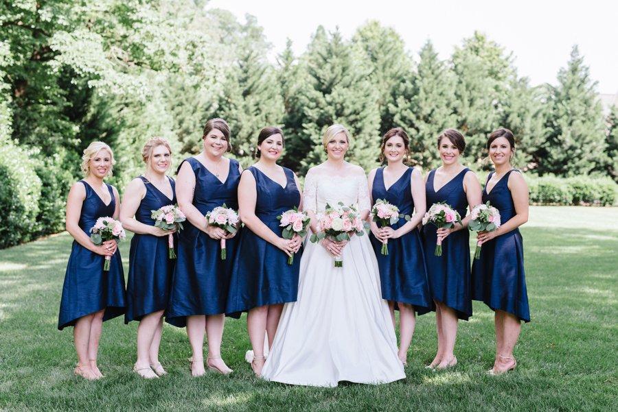 A Classic Pink & Navy North Carolina Wedding via TheELD.com