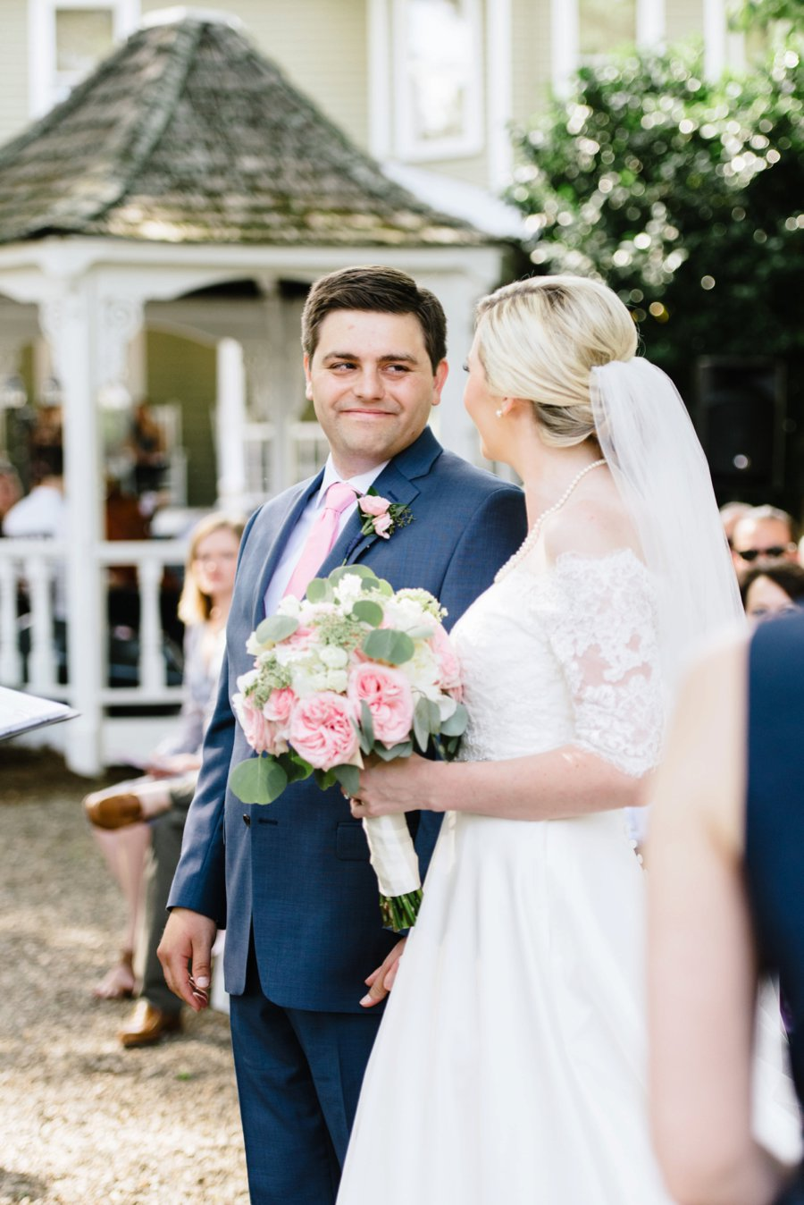A Classic Pink & Navy North Carolina Wedding via TheELD.com