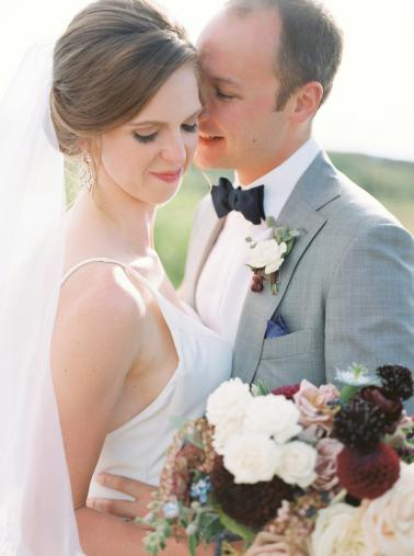A Burgundy & Blush Elegant Rustic Colorado Wedding via TheELD.com
