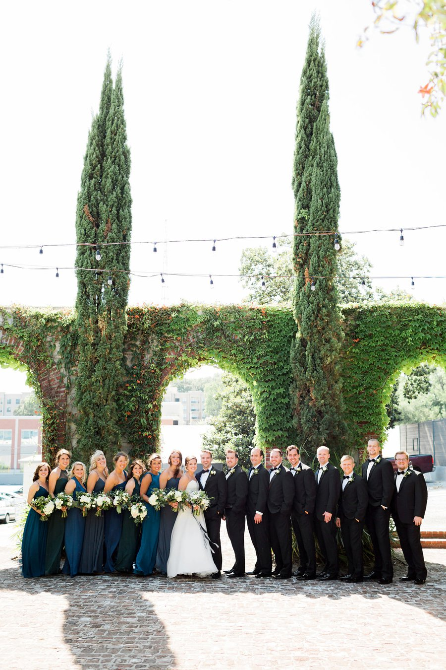 An Elegant Green & White Industrial Georgia Wedding via TheELD.com