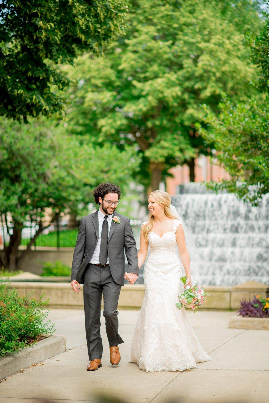 Teal & Peach Rustic Bee Inspired North Carolina Wedding via TheELD.com
