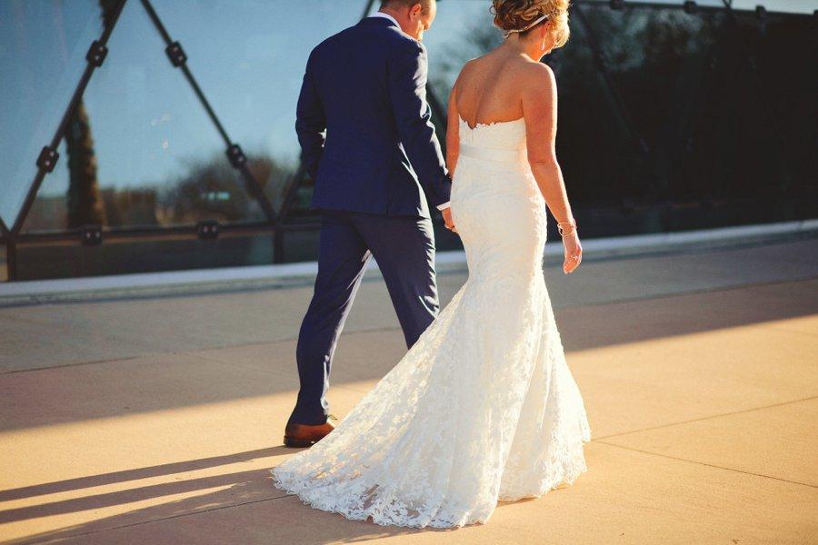 A Modern Romantic Blue & Copper Wedding via TheELD.com