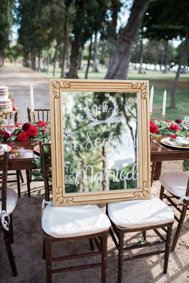 Red & Green Hawaiian Holiday Wedding Ideas via TheELD.com