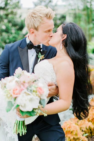 Romantic Pink, Coral & Gold Florida Wedding via TheELD.com