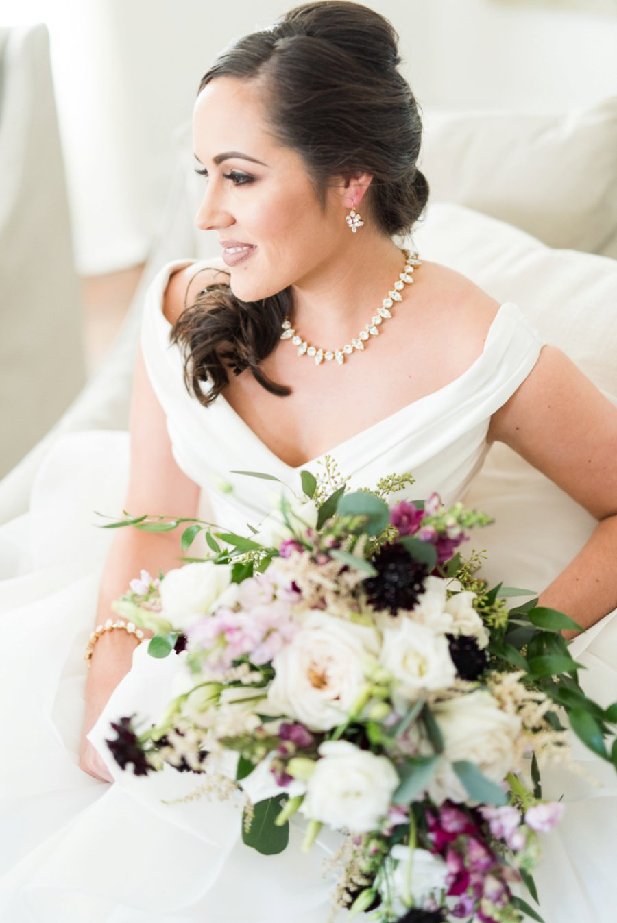 An Elegant Burgundy & Gold Tented Pensacola Wedding Day via TheELD.com