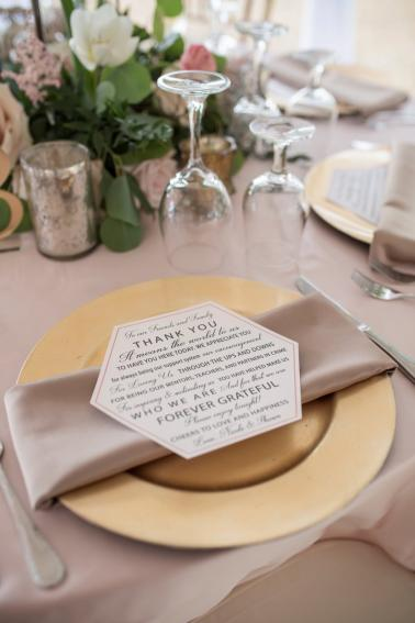 A Classic Blush & Gold Tented Sarasota Wedding Day via TheELD.com