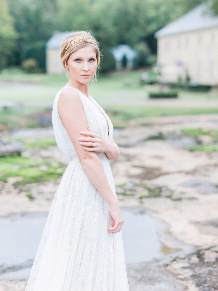 Romantic Ethereal Bridal Portraits via TheELD.com