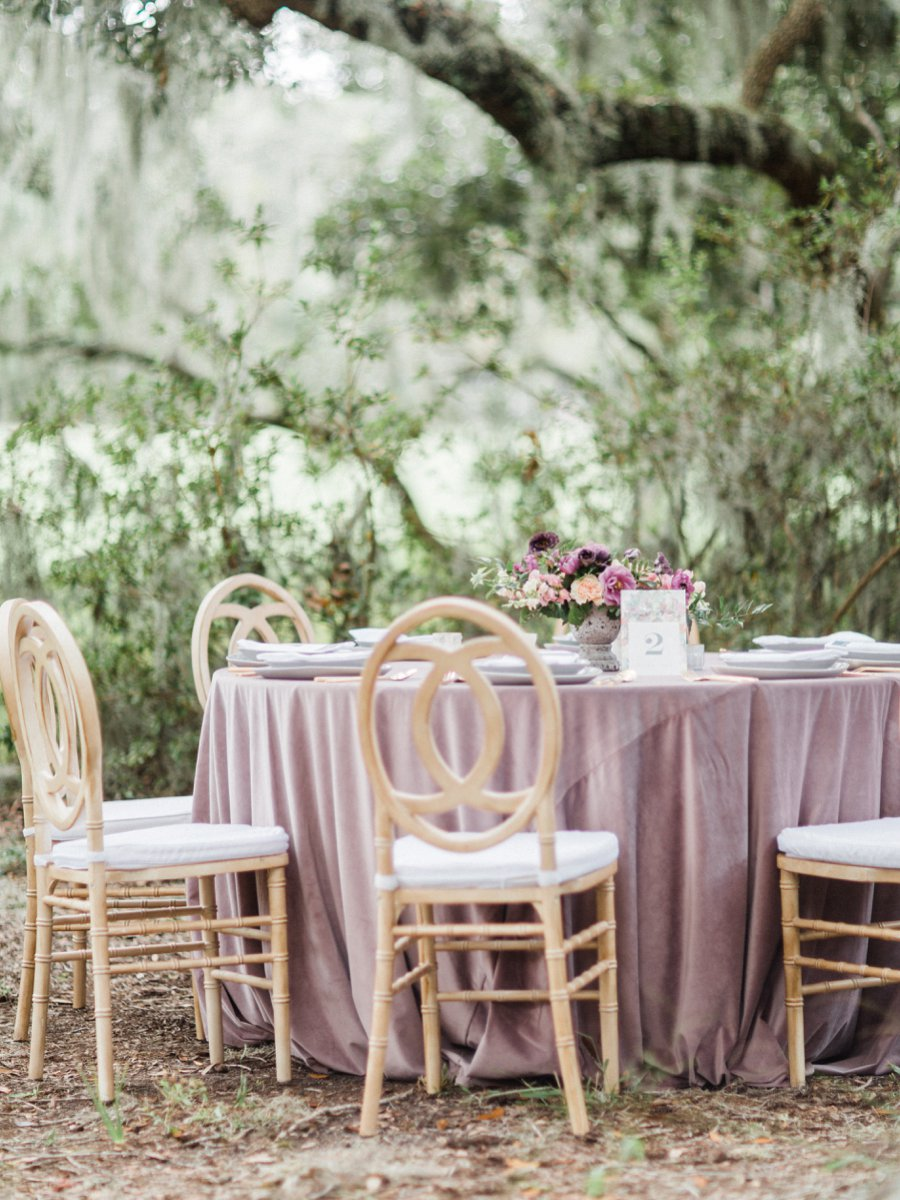 Romantic Purple & Pink Garden Wedding Inspiration via TheELD.com