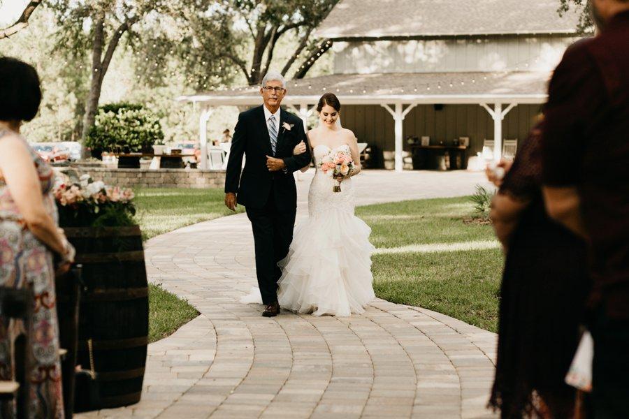 An Elegant Peach & Rose Jacksonville Wedding via TheELD.com