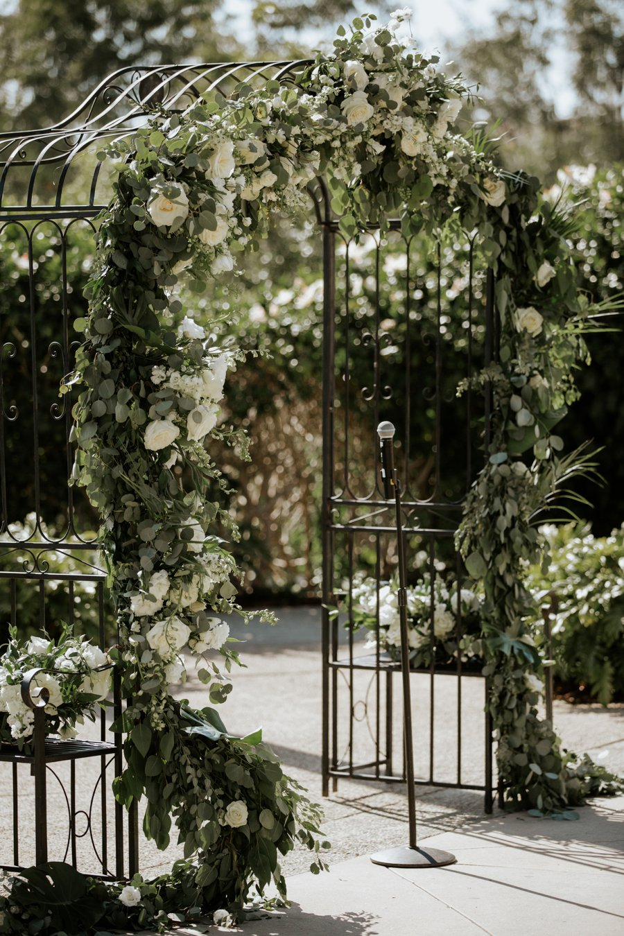 A Classic Green & White Coastal California Wedding Day via TheELD.com