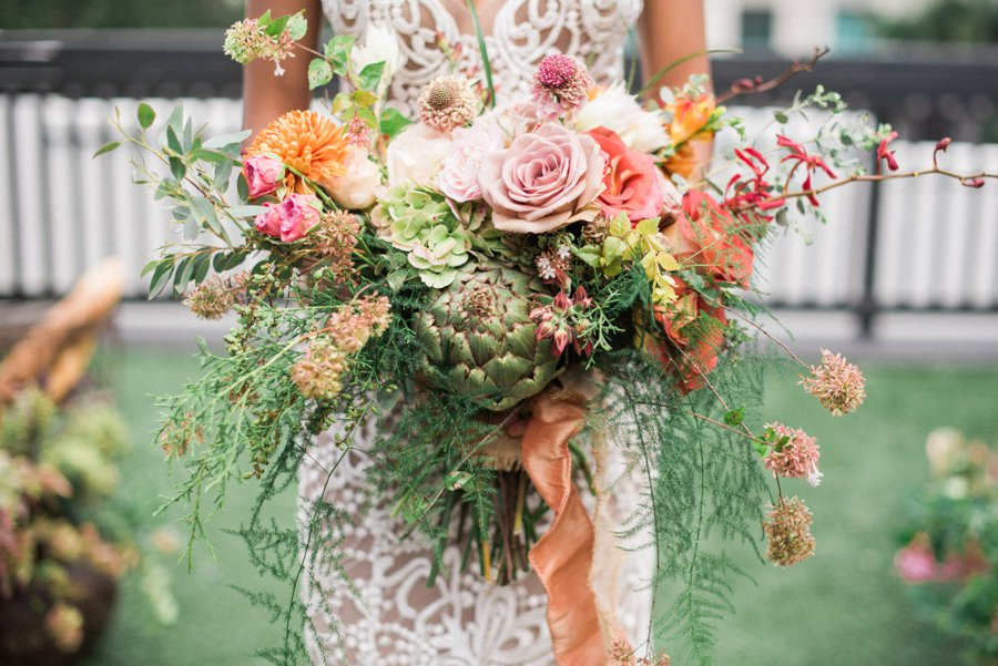 Organic Peach, Purple & Greenery Foodie Wedding Ideas via TheELD.com
