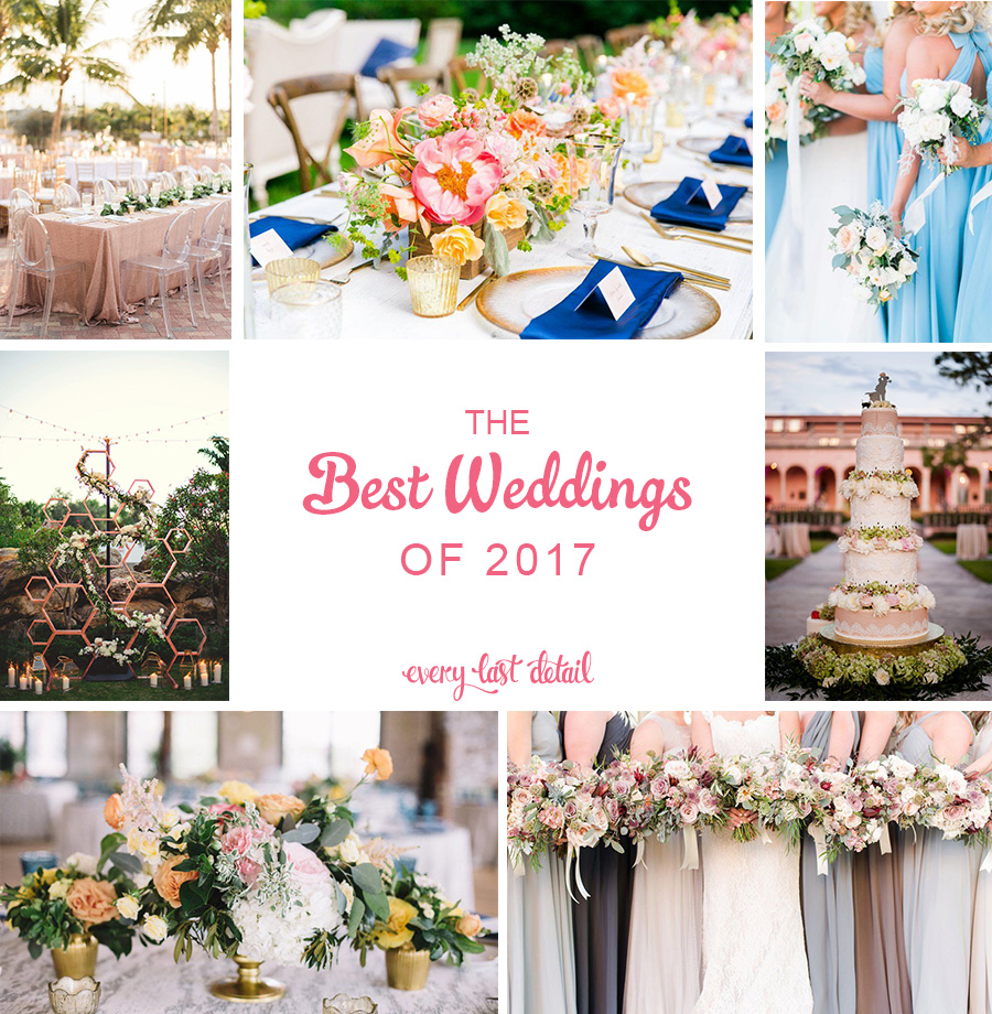 Best Weddings of 2017 via TheELD.com