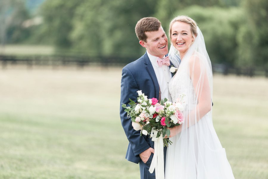 A Pink Rustic Romance Virginia Mountain Wedding via TheELD.com