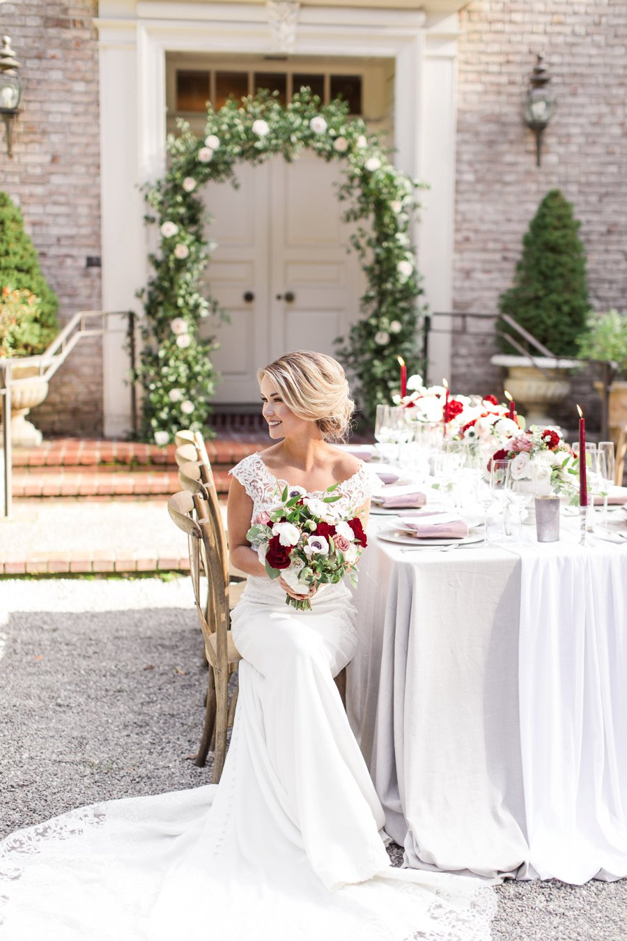 Romantic Pink & Red Elegant Garden Wedding Ideas