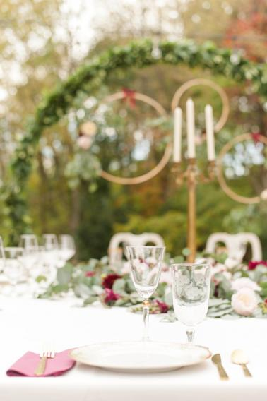A Cozy, Romantic Blush and Red Indiana Wedding via TheELD.com