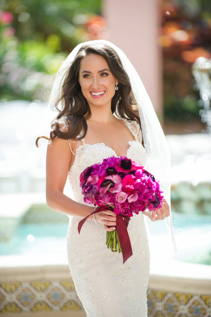 A Glamorous Hot Pink St. Pete Wedding via TheELD.com