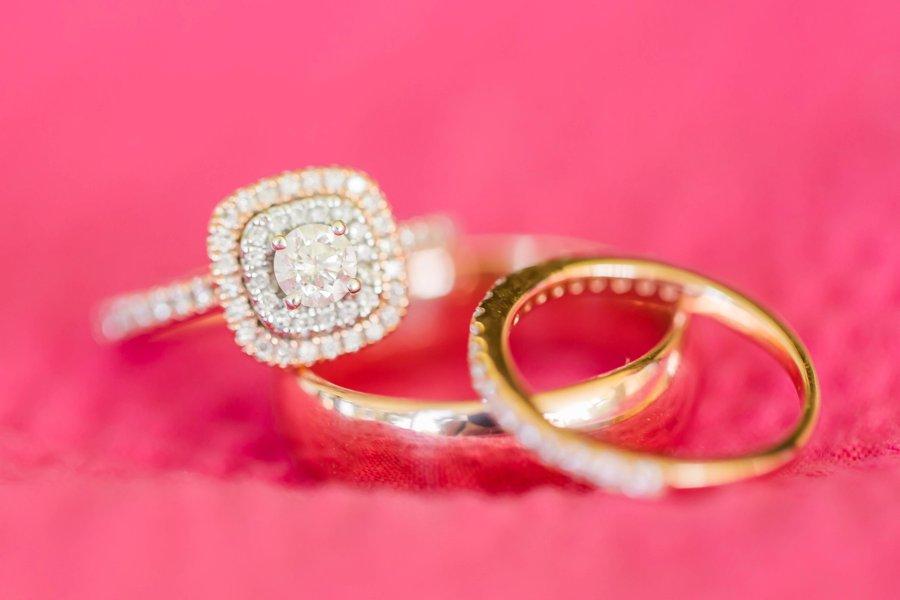 A Colorful Pink & Orange Virginia Wedding via TheELD.com