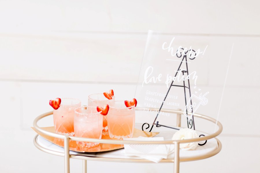 Modern Romantic Black & Mauve Valentines Day Wedding Ideas via TheELD.com