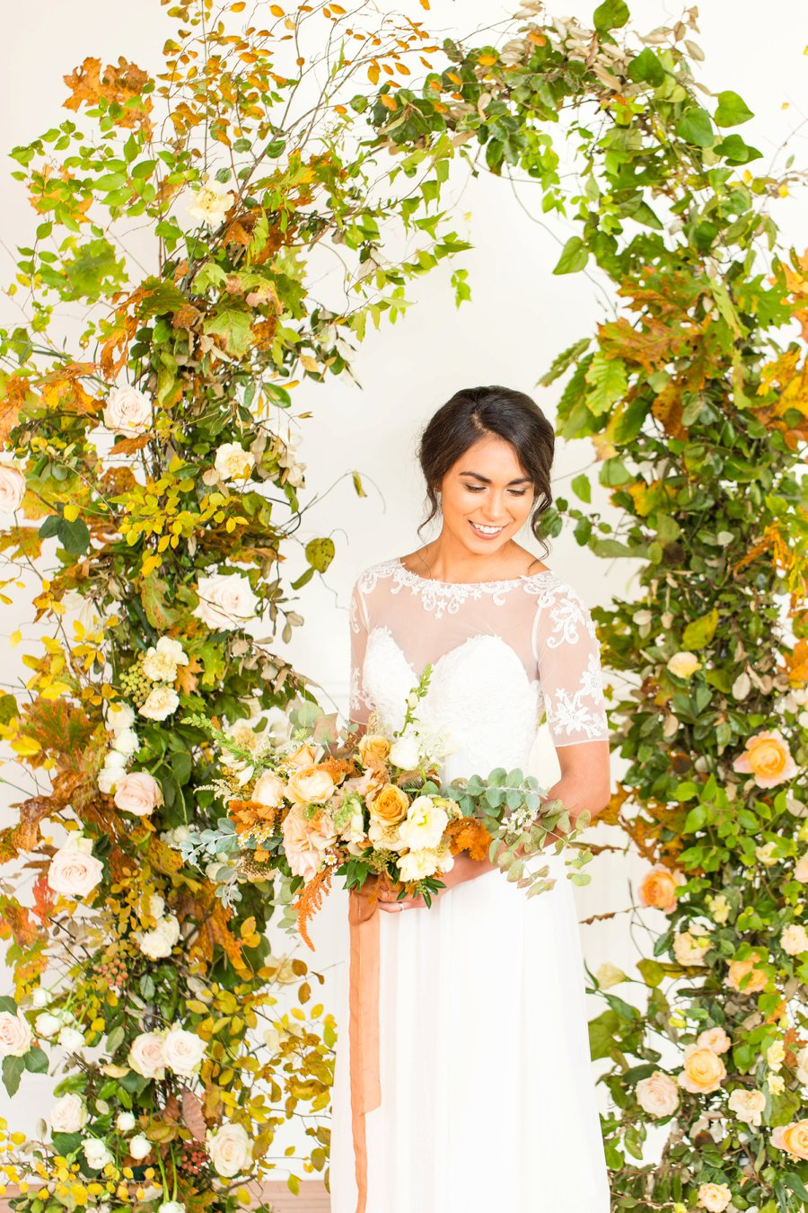 Yellow & Peach Organic Wedding Ideas via TheELD.com
