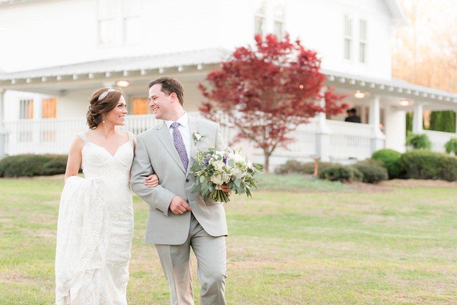 A Classic Southern Purple & White Alabama Wedding Day via TheELD.com
